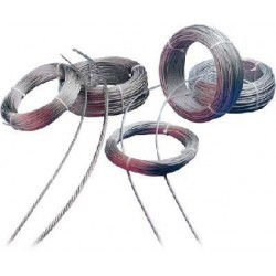 Cable acero inox 8/7x7+0...
