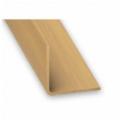 Angulo 20x20 - 2.5 m PVC roble