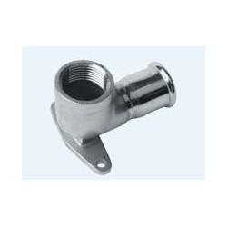 Codo placa acero inox 22x3/4