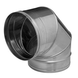 Codo estufa acero inox 250/90