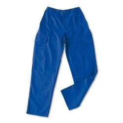 Pantalon algodon Basic azul...
