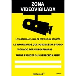 """Señal """"Zona Videovigilada""""..."""