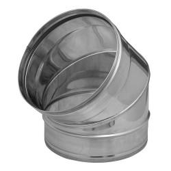 Codo estufa acero inox 175/90