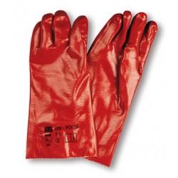 Guante PVC rojo 27 cm