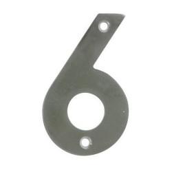 Numero inox 1.30x2.5 mm- 6