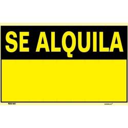 "Cartel ""SE ALQUILA"" 45x35"
