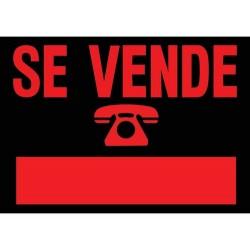 "Cartel ""SE VENDE"" 45x35"