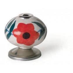 Pomo porcelana flor 40 mm...