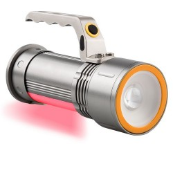 Linterna 1 led con zoom...