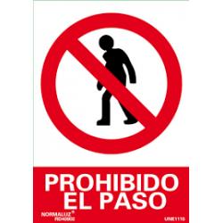 """Señal """"Prohibido el Paso""""..."""