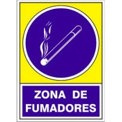 """Señal """"Zona Fumadores""""..."""