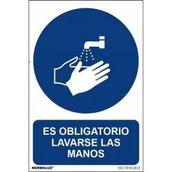 """Señal """"Obligatorio lavarse..."""
