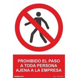 """Señal """"Prohibido el Paso a..."""
