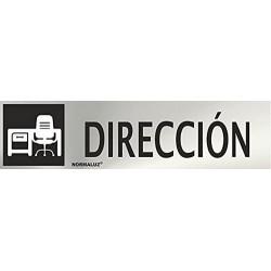 """Señal """"Direccion"""" inox 200x50"""