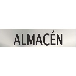 "Señal ""Almacen"" inox 200x50"