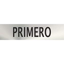 "Señal ""Primero"" inox 200x50"