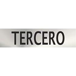 "Señal ""Tercero"" inox 200x50"
