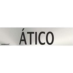 """Señal """"Atico"""" inox 200x50"""