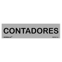 """Señal """"Contadores"""" inox 200x50"""