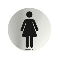Placa simbolo inox Aseos...