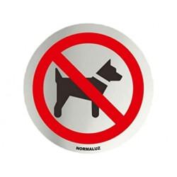 Placa simbolo inox Perros...