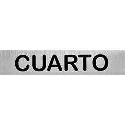 """Señal """"Cuarto"""" inox 200x50"""