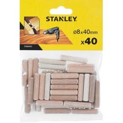 Espiga madera 8x40 40 Ud...