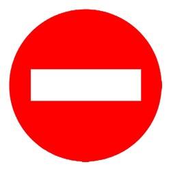 Señal Direccion Prohibida...